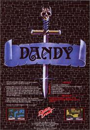 Advert for Dandy on the Sinclair ZX Spectrum.