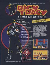 Advert for Dick Tracy on the Sinclair ZX Spectrum.