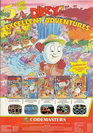 Advert for Dizzy's Excellent Adventures on the Commodore 64.