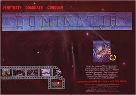Advert for Dominator on the Atari ST.