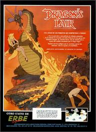 Advert for Dragon's Lair on the Sinclair ZX Spectrum.