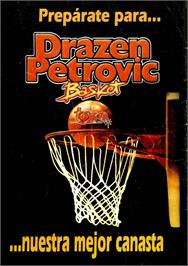Advert for Drazen Petrovic Basket on the Commodore 64.