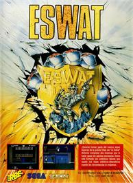 Advert for E-SWAT: Cyber Police on the Sinclair ZX Spectrum.