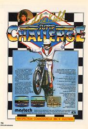 Advert for Eddie Kidd Jump Challenge on the Sinclair ZX Spectrum.