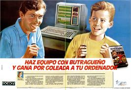 Advert for Emilio Butragueño Fútbol on the Commodore 64.