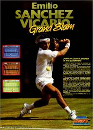 Advert for Emilio Sanchez Vicario Grand Slam on the MSX.