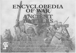 Advert for Encyclopedia of War: Ancient Battles on the Sinclair ZX Spectrum.