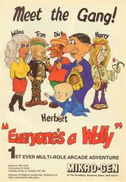 Advert for Everyone's A Wally (The Life of Wally) on the Sinclair ZX Spectrum.