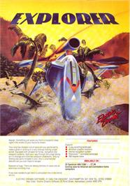 Advert for Explorer on the Sinclair ZX Spectrum.