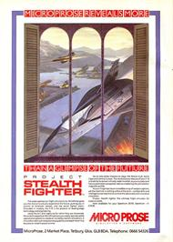 Advert for F-19 Stealth Fighter on the Sinclair ZX Spectrum.
