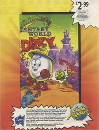 Advert for Fantasy World Dizzy on the Sinclair ZX Spectrum.