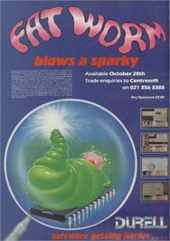 Advert for Fat Worm Blows A Sparky on the Sinclair ZX Spectrum.