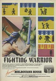 Advert for Fighting Warrior on the Sinclair ZX Spectrum.