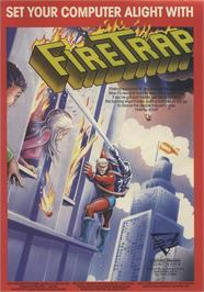 Advert for FireTrap on the Sinclair ZX Spectrum.