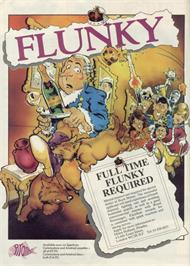 Advert for Flunky on the Sinclair ZX Spectrum.