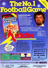 Advert for Football Manager on the Sinclair ZX Spectrum.