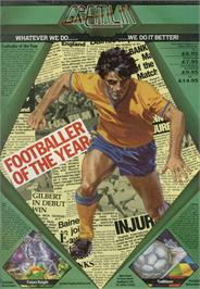 Advert for Footballer of the Year on the Sinclair ZX Spectrum.