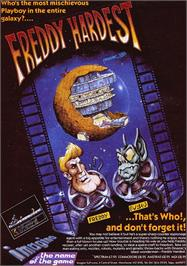 Advert for Freddy Hardest on the Sinclair ZX Spectrum.