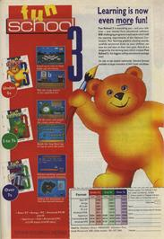 Advert for Fun School 3: for 5 to 7 Year Olds on the Sinclair ZX Spectrum.