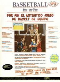 Advert for GBA Championship Basketball: Two-on-Two on the Commodore 64.