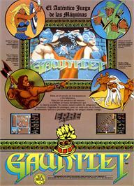 Advert for Gauntlet on the Sinclair ZX Spectrum.