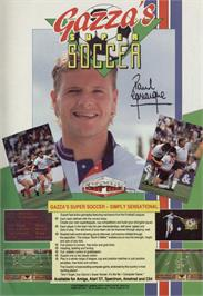 Advert for Gazza's Super Soccer on the Sinclair ZX Spectrum.