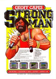 Advert for Geoff Capes Strongman on the Sinclair ZX Spectrum.