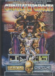 Advert for Ghouls 'N Ghosts on the Sinclair ZX Spectrum.