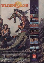 Advert for Golden Axe on the Sinclair ZX Spectrum.