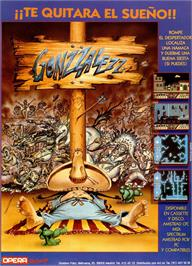 Advert for Gonzzalezz on the Amstrad CPC.