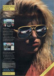 Advert for Grand Prix Circuit on the Amstrad CPC.
