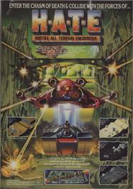 Advert for H.A.T.E. on the Sinclair ZX Spectrum.