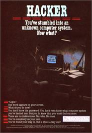 Advert for Hacker on the Sinclair ZX Spectrum.