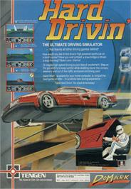 Advert for Hard Drivin' on the Sinclair ZX Spectrum.