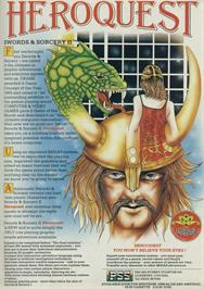 Advert for Hero Quest on the Sinclair ZX Spectrum.