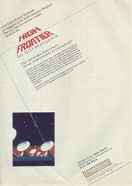 Advert for High Frontier on the Sinclair ZX Spectrum.