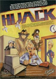Advert for Hijack on the Amstrad CPC.