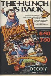 Advert for Hunchback II: Quasimodo's Revenge on the Commodore 64.