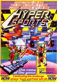 Advert for Hyper Sports on the Sinclair ZX Spectrum.