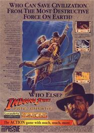 Advert for Indiana Jones and The Fate of Atlantis: The Action Game on the Commodore 64.