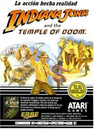 Advert for Indiana Jones and the Temple of Doom on the Sinclair ZX Spectrum.