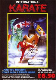 Advert for International Karate on the Sinclair ZX Spectrum.