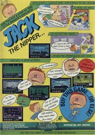 Advert for Jack the Nipper on the Sinclair ZX Spectrum.