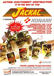Advert for Jackal on the Sinclair ZX Spectrum.