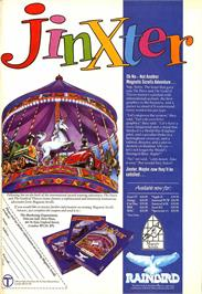 Advert for Jinxter on the Atari ST.