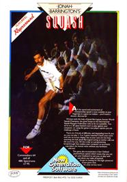 Advert for Jonah Barrington's Squash on the Commodore 64.