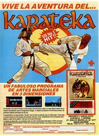 Advert for Karateka on the Sinclair ZX Spectrum.