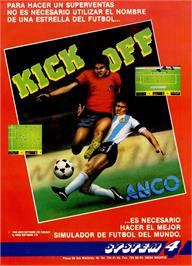 Advert for Kick Off on the Sinclair ZX Spectrum.