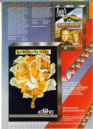 Advert for Kokotoni Wilf on the Sinclair ZX Spectrum.