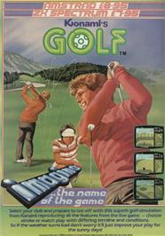 Advert for Konami's Golf on the Amstrad CPC.